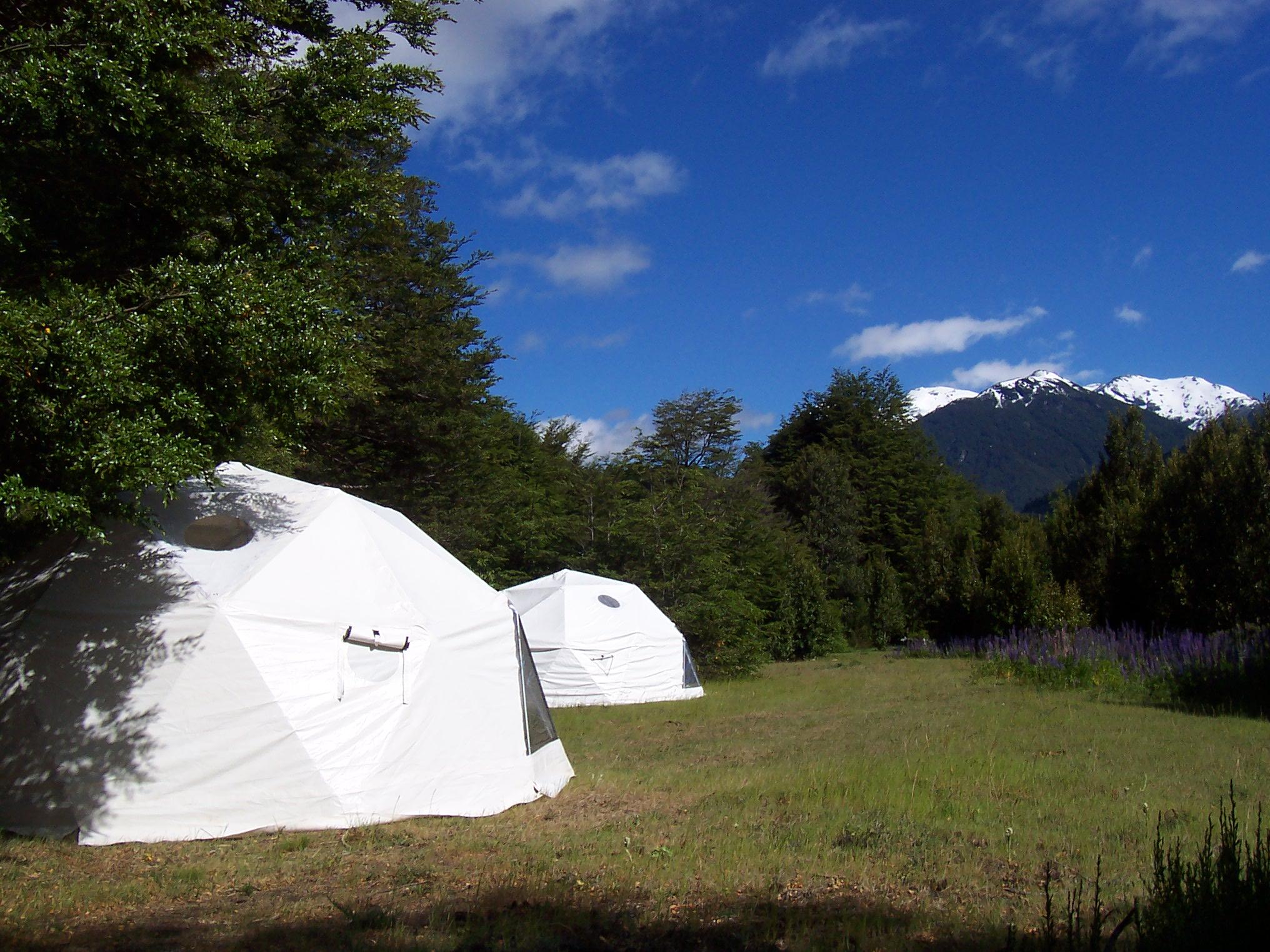 Domos y Camping en Futaleufu Patagonia