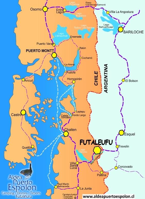 Mapa Map Futaleufu Patagonia Carretera Austral